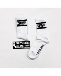 KIMI LEAVE ME ALONE CREW SPORT SOCKS - WHITE