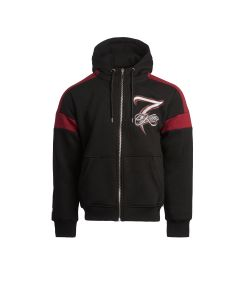Kimi Panel Zip Hoody - Burgundy/Black